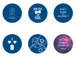 Doctor Who Buttons by rawendeavors