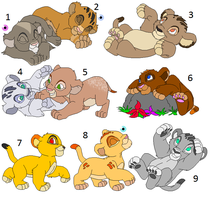 Cubs Adoptables 2 - CLOSED - by Soufroma