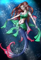 Tropical Mermaid by SparkOut1911