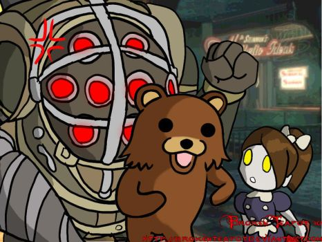 Pedobear visits Rapture by BrokenTeapot