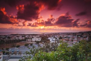 Sunset in Paphos by sican