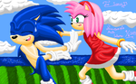 Sonic and Amy (for sonic93) by princeasle
