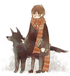 Moony and Padfoot by ruuari