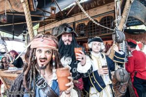 Blackbeard , Jack Sparrow, Commander Norrington by DutchDarthMaul
