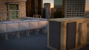 Rooftop render 1 by Piplington