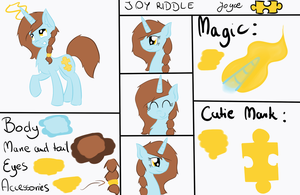 Joy Riddle - New Reference Sheet by muffinka22