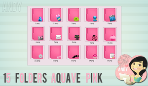 Folders Aquave Pink by Jonatica-andi