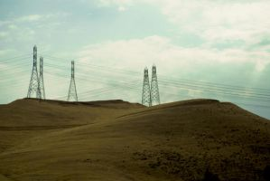 Hills and Power Lines by MakesMeLaugh
