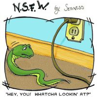 NSFW: peeping tom snake by sethness