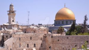 The Western Wall and the Temple Mount by Skyrover