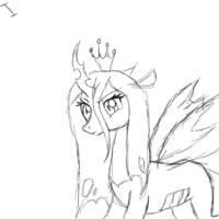 Queen Chrysalis Sketch by ijustloveit619