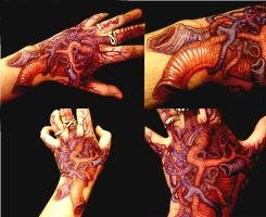 My Fleshy hand Tattoo by GrendelDemon