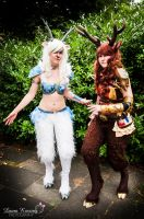 Steam Punk Faun Cosplay + Winter Faun Cosplay by HanHanx3