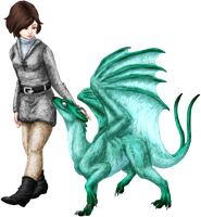 A Girl and Her Dragon 2.0 by Sporelett