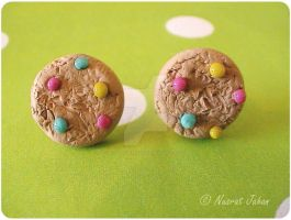 Candy cookie studs by ButterMakesYouFat