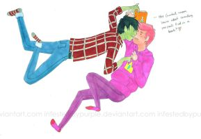 Marshall Lee + Prince Gumball by InfestedByPurple
