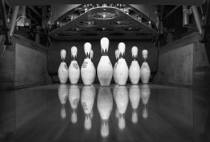 bowling black and white by delobbo