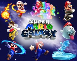 Super Mario Galaxy Wallpaper by whatnotdude