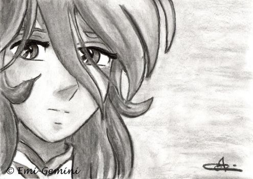 Shun - Charcoal Portrait by Emi-Gemini