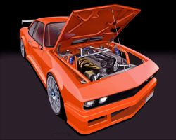 Opel Manta Toon. by LindStyling