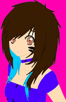 Me with long hair and blue and Untiy strips by AlysonRose