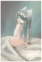 white bed by gamerXgirl