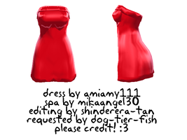 shiny red dress by shinderera-tan