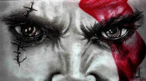 Kratos's eyes by MuhammedFeyyaz