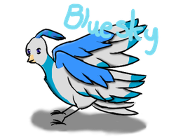 Bluesky- Request for MorganChan3324 by Little-Volii