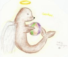 Go far-Angel Sea Lion by mochafrozen