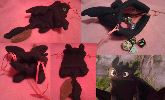 HTTYD: Toothless Dice Bag by Khalia1114