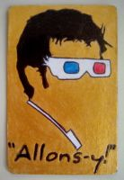 "DR. WHO TENNANT ""ALLONS-Y"" Gift Magnet by RidiculousRandomHero"