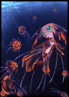 below light- jellyfish girl by pikminAAA