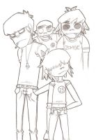 All Gorillaz in a happy mood by GoRiLlAz6666