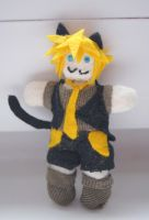 Len Kagamine - ah it's a wonderful cat life :3 by martek97