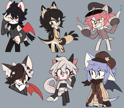 [sketches] Mobian Versions Of OCs by CosmicHedgie