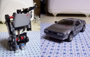 DeLorean Transformer Custom by Raggletag