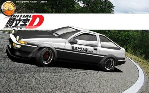 3D ae86 initial D Toyota by LarsenGR