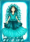 Teal Royalty by mary8888