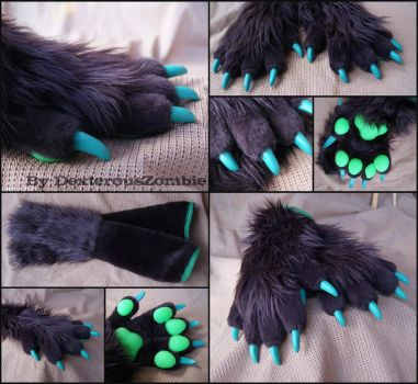 Daisydog Handpaws + Armsleeves by DexterousZombie