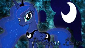 Princess Luna Desktop Wallpaper! by xRandomGurl