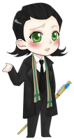 Chibi Loki (2) by bluehippopo