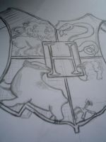 Hogwarts Shield in process by privatecomedy