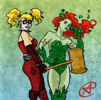 Harley and Ivy by photon-nmo