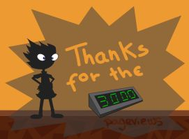 Thanks for the 3000 pageviews! by KatMaya