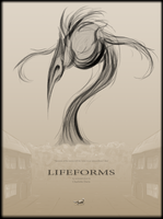 'Lifeforms' Cover Poster by Charlotte-Davis-Art