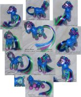 Northern Lights Custom My Little Pony Multi View by mayanbutterfly