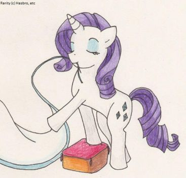 Rarity for Vicky-V by SamCyberCat