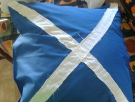 My hand made Scotland flag pillow by girlnephilim90