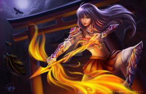 Sailor Mars - Fantasy Warrior Concept Art by keikei11